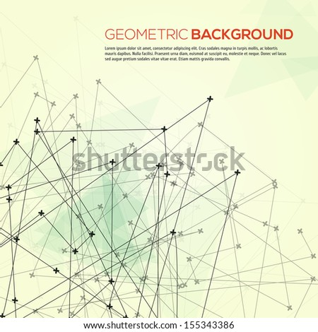 Abstract geometric modern background - stock vector