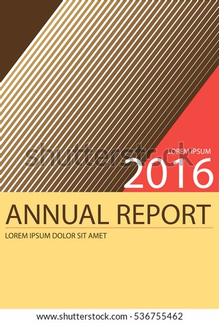 Modern Retro Abstract Annual Report Cover Stock Vector 536542936