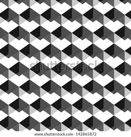 Abstract geometric monochrome background - vector - stock vector
