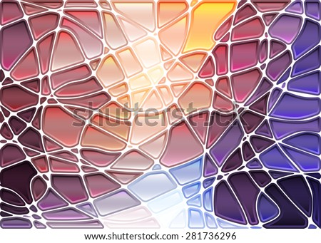 abstract geometric mosaic banner set