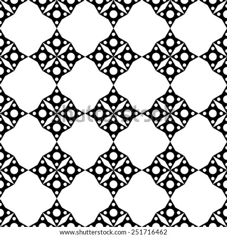 Abstract geometric mosaic seamless pattern in black and white. Monochrome repeating background texture. Cloth design. Wallpaper, wrapping  - stock vector