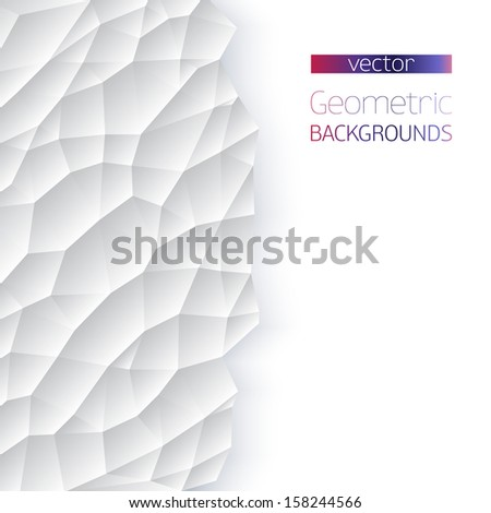Abstract geometric on white  background. Winter time Background. Vector Illustration, Graphic Design Useful For Your Design.