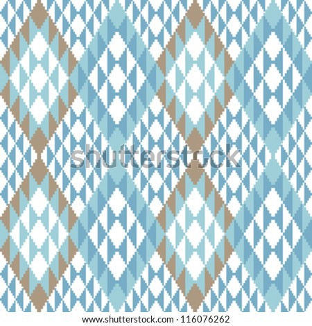 Abstract geometric ornamental background in ethnic style - stock vector