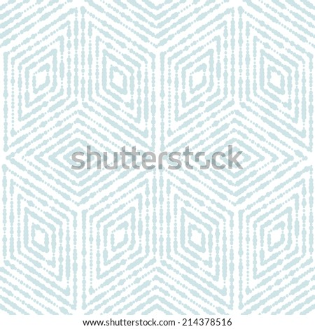 Abstract geometric pattern. A seamless vector background. Blue and white texture. - stock vector