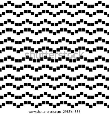 Abstract geometric pattern. Black and white texture. A seamless vector background. - stock vector