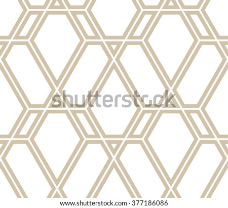 Abstract geometric pattern by lines, rhombuses. A seamless vector background. Light texture - stock vector