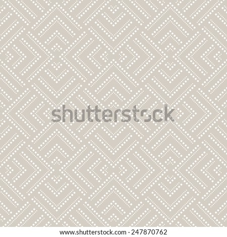 Abstract geometric pattern by squares, dots. A seamless vector background. Beige and white texture. - stock vector