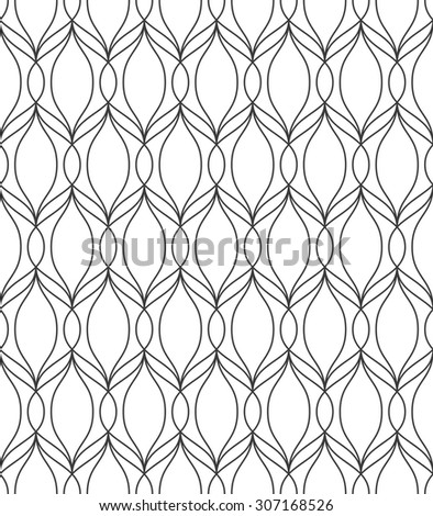 Abstract geometric pattern by stripes. A seamless vector background. Black and white texture. - stock vector