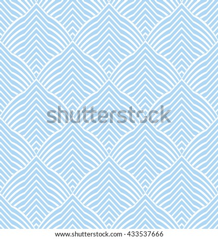 Abstract geometric pattern by stripes, lines. A seamless vector background.  Blue and white ornament.  Stylish graphic pattern. - stock vector