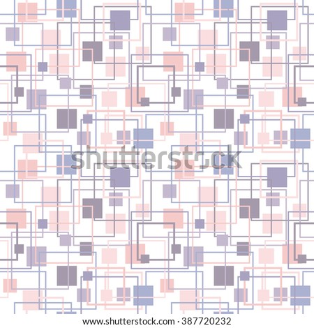 Abstract geometric pattern in lilac and rose colors. Serenity and Rose Quartz Tint seamless Texture. Pastel Colored Background - stock vector