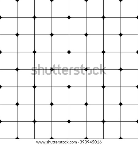 Abstract geometric pattern, monochrome pattern, retro pattern - stock vector