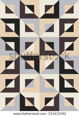 Abstract geometric pattern. Mosaic seamless - stock vector