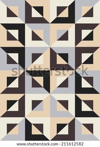 Abstract geometric pattern. Mosaic seamless - stock vector