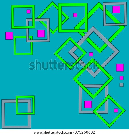 Abstract geometric pattern of squares. - stock vector