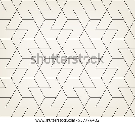 Abstract geometric pattern with crossing thin black lines on light gray background. Seamless linear rapport. Stylish vector texture.