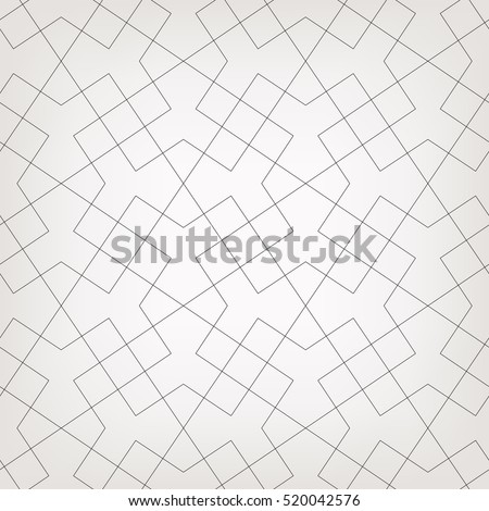 Abstract geometric pattern with crossing thin lines. Stylish texture in gray color. Seamless linear pattern.