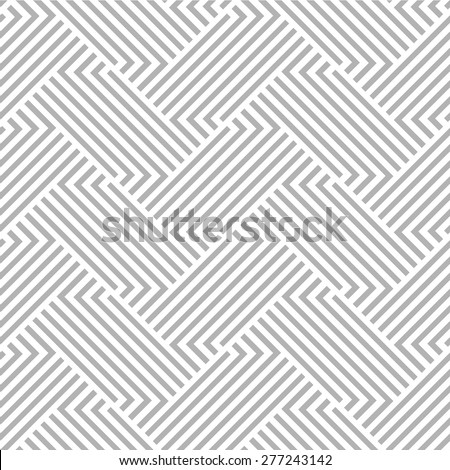 Abstract geometric pattern with lines, stripes. A seamless vector background. Gray and white texture. - stock vector