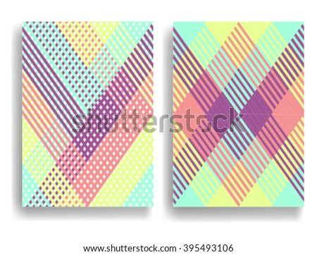 Abstract Geometric pattern with Stripes. Seamless texture in different colors, can be used for background.Vector Illustration. - stock vector