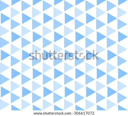 Abstract geometric seamless mosaic pattern of hexagons and triangles - stock vector
