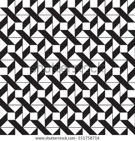 Abstract geometric seamless pattern. Black and white pattern with line.