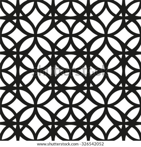 Abstract geometric seamless pattern. Black and white style pattern. Black lines on white background.  - stock vector