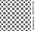 Abstract geometric seamless pattern. Black and white style pattern with circle and line. - stock photo