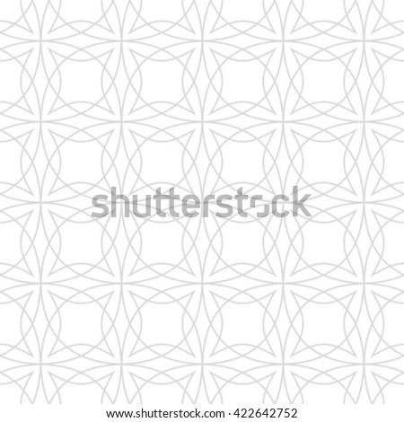 Abstract geometric seamless pattern. Black and white style pattern with circle and line. - stock vector