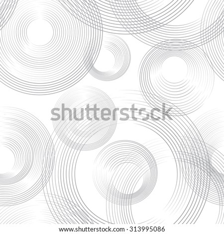 Abstract geometric seamless pattern. Bubble ornamental background. Circles. - stock vector