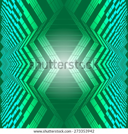 Abstract geometric seamless pattern. Green style pattern with triangle, rhombus and lines. - stock vector