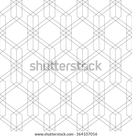 Abstract geometric seamless pattern. Grey and white style pattern with rhombus and lines. - stock vector