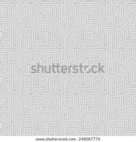 Abstract geometric seamless pattern. Maze.  - stock vector