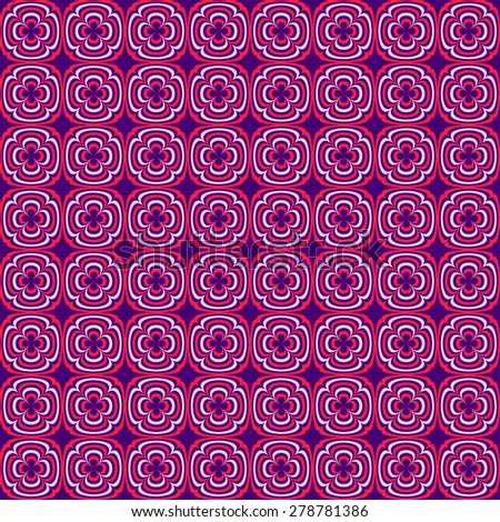 Abstract geometric seamless pattern. Purple and pink style pattern with circle and line. Endless texture for wallpaper, fill, web page background, surface texture. - stock vector