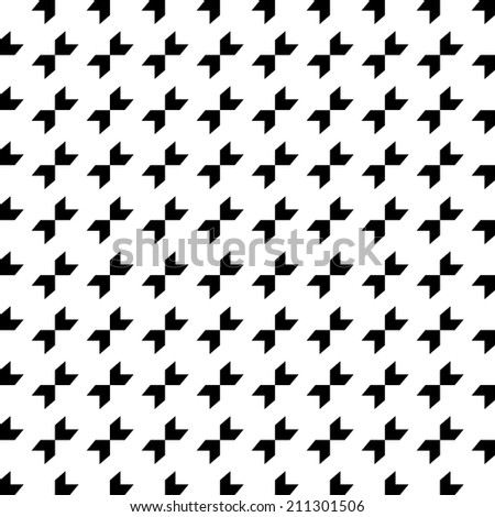 Abstract geometric seamless pattern. Simple ornamental vector background. Endless mosaic texture.