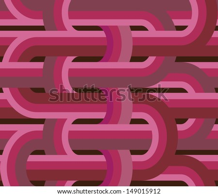 Abstract geometric seamless pattern. Vector background with retro lines. - stock vector