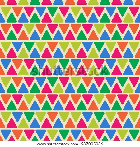 Abstract Geometric Seamless Pattern with Color Triangle Shapes