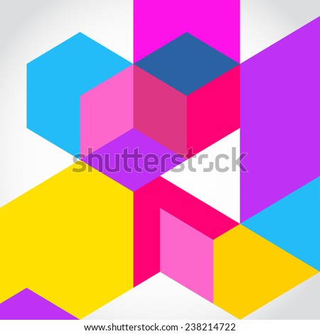 Abstract geometric shape background  - stock vector