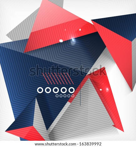 Abstract geometric shape background. For business / technology / education - stock vector