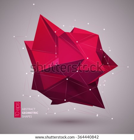 Abstract geometric shape background. Vector illustration EPS10 - stock vector