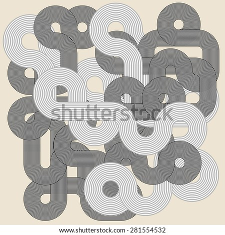 Abstract geometric shape. Vector illustration - stock vector