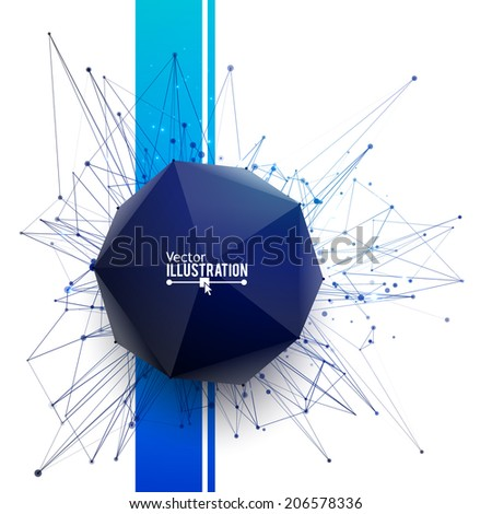 Abstract geometric shape. Vector illustration for poster, flyer, cover, brochure. - stock vector