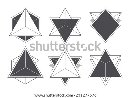 Abstract geometric shapes. Hipster style design elements. Vector illustration. - stock vector