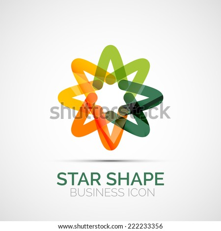 Abstract geometric symmetric business icon, logo - stock vector