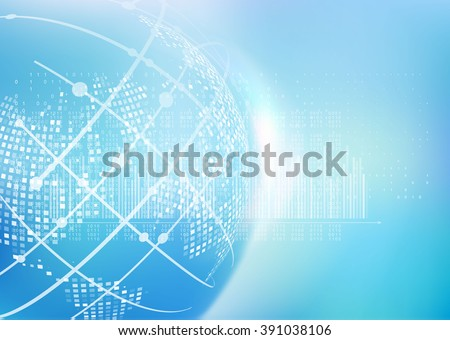 Abstract geometric technology graphic elements.  - stock vector