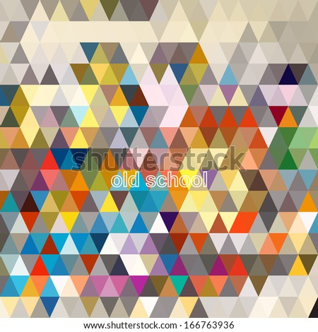 Abstract geometric triangle seamless pattern. Abstract colorful triangles background design vector. Retro pattern of geometric shapes. Triangle Geometrical Multicolored Background.