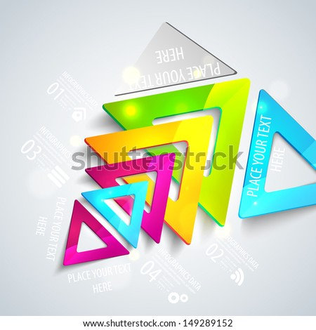 Abstract geometric triangles. Vector illustration for your business presentation - stock vector
