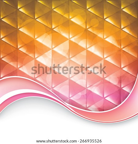 Abstract geometric triangular background - eps10 vector - stock vector