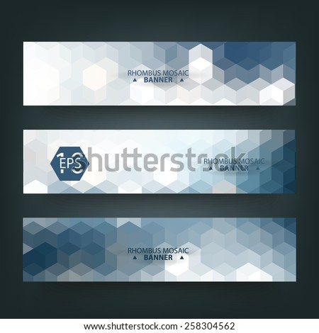 Abstract geometric, triangular pattern banner with polygonal mosaic background style. - stock vector