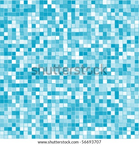 Abstract geometric vector blue squares background - stock vector