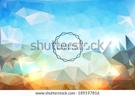 Abstract geometric vector landscape - stock vector