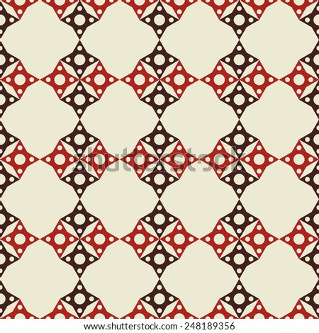 Abstract geometric vintage seamless pattern. Repeating background texture  - stock vector